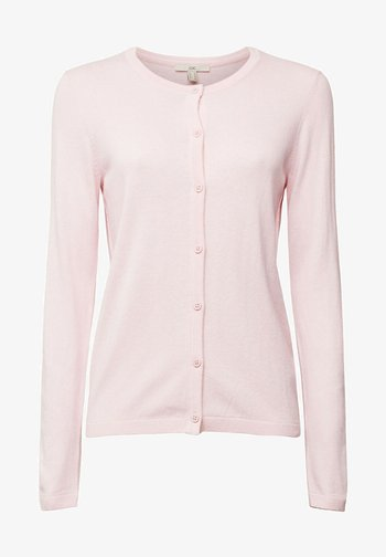 CORE ROUND NECK CARDIGAN - Neuletakki - light pink