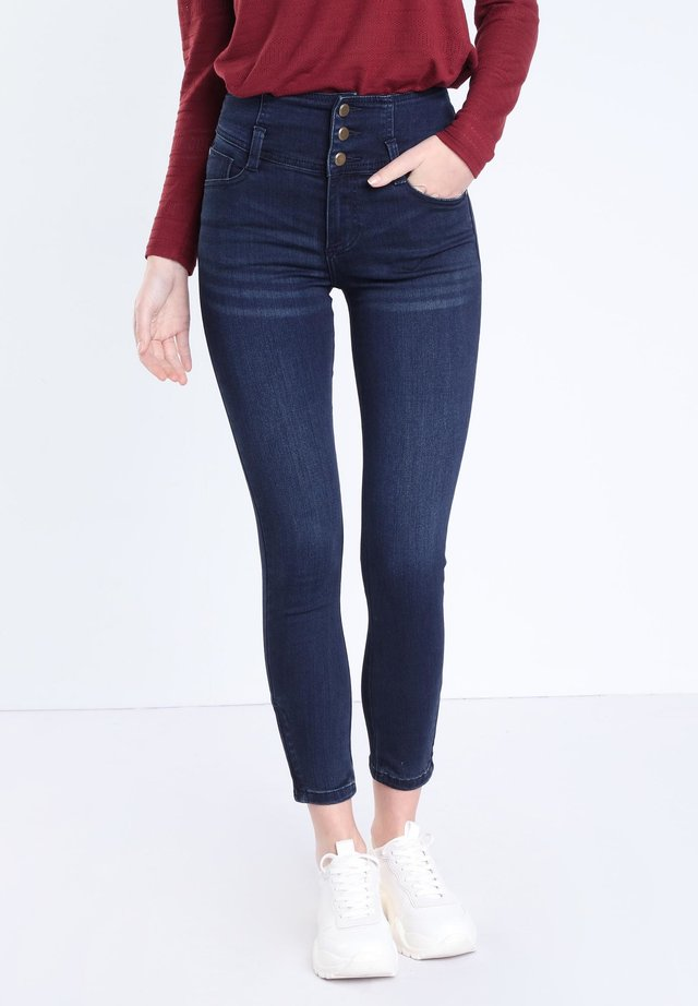 HOHE TAILLE - Jeans Skinny Fit - raw denim