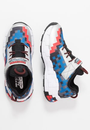 MEGA-CRAFT - Sneakers laag - black/silver/blue/red