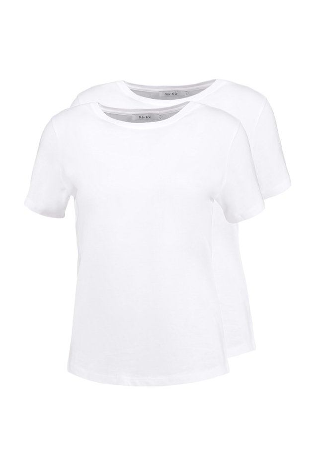 CREW TEE 2 PACK - T-shirts - white