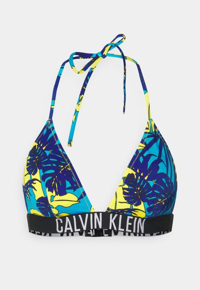 INTENSE POWER TRIANGLE - Bikini pezzo sopra - blue