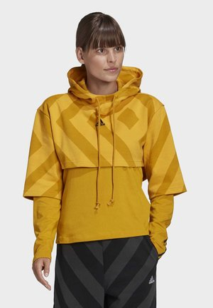 PRIMEGREEN CROPPED HOODIE - Jersey con capucha - gold