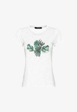 MIT PALMENSTICKEREI - Print T-shirt - hvit