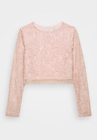 NA-KD - ZALANDO X NA-KD LONG SLEEVE LACE TOP - Bluser - dusty pink - 3
