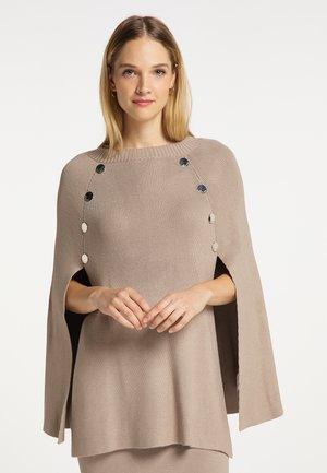 Poncho - taupe