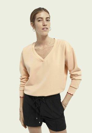 Sweatshirt - soft peach