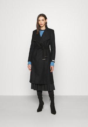 MID LENGTH WRAP COAT - Classic coat - black
