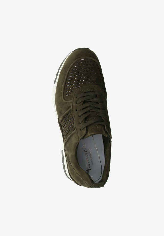 Trainers - dark olive/punch