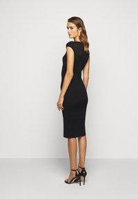 Hervé Léger - V NECK DRESS - Shift dress - black - 2