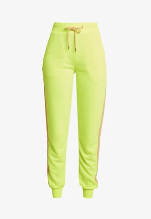 CONTRAST PANEL JOGGERS - Pantalones deportivos - neon yellow