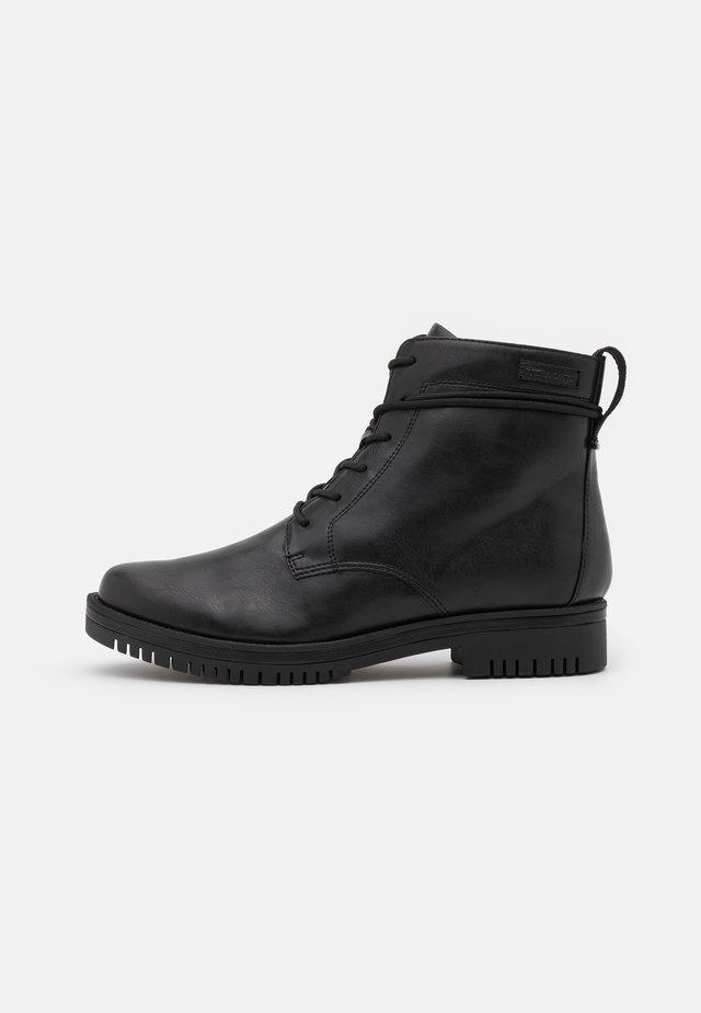 BOOTS  - Snørestøvletter - black matt