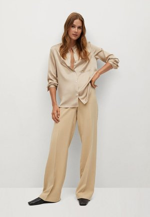 MAOSAT - Button-down blouse - beige