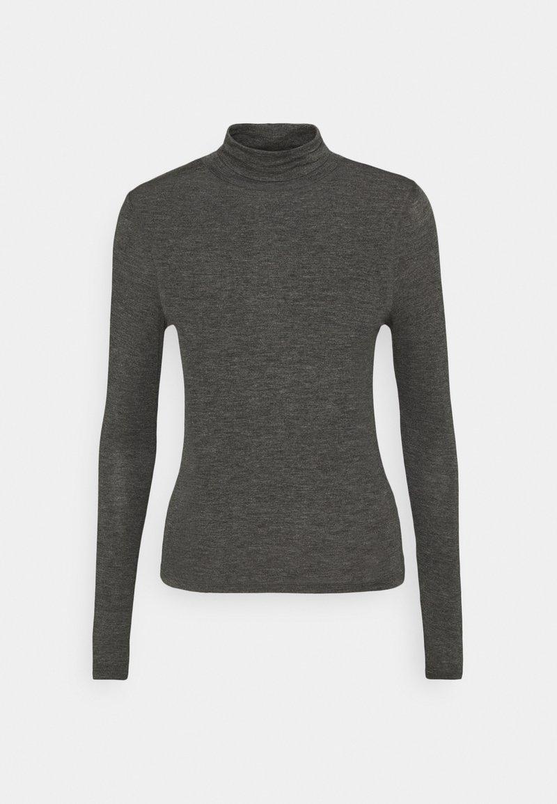 Cotton On - SHEER VINTAGE HIGH NECK LONG SLEEVE - Top sdlouhým rukávem - charcoal marle