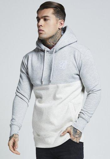 DROP SHOULDER CUT SEW HOODIE - Hoodie - grey marl off-white