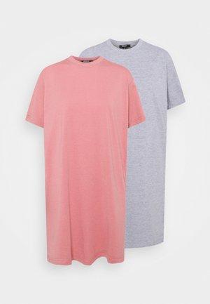 BASIC DRESS 2 PACK - Denní šaty - grey marl
