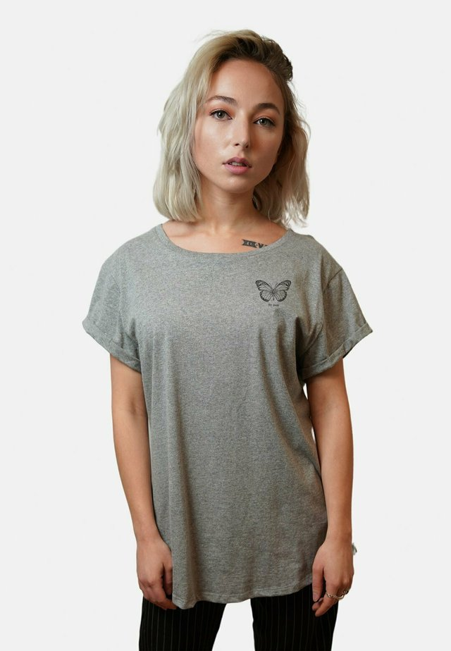 FLY AWAY - Printtipaita - mottled grey