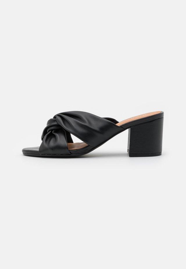 BIACATE KNOT MULE - Pantofle na podpatku - black