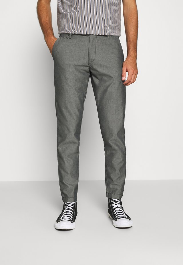 DOBBY CLUB TROUSERS - Kangashousut - grey