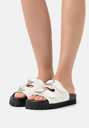 DOUBLE BUCKLE  - Mules - white