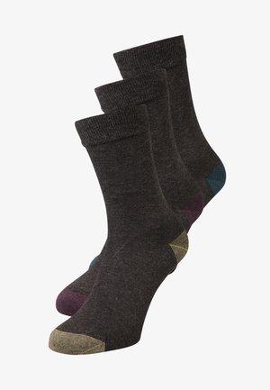 MIX & MATCH 3 PACK - Ponožky - anthracite canard