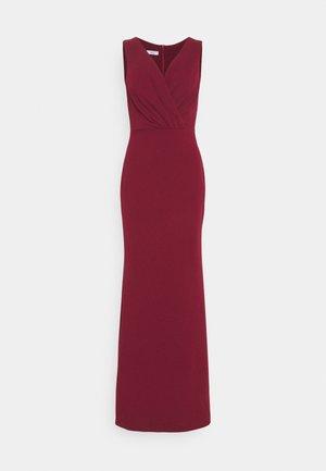 LYRIC LOW V NECK MAXI DRESS - Occasion wear - wine