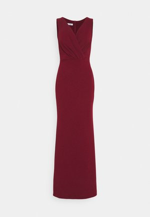 LYRIC LOW V NECK MAXI DRESS - Gallakjole - wine