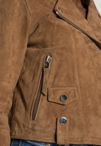 NAF NAF - CLARISSE - Kožená bunda - sable - 4