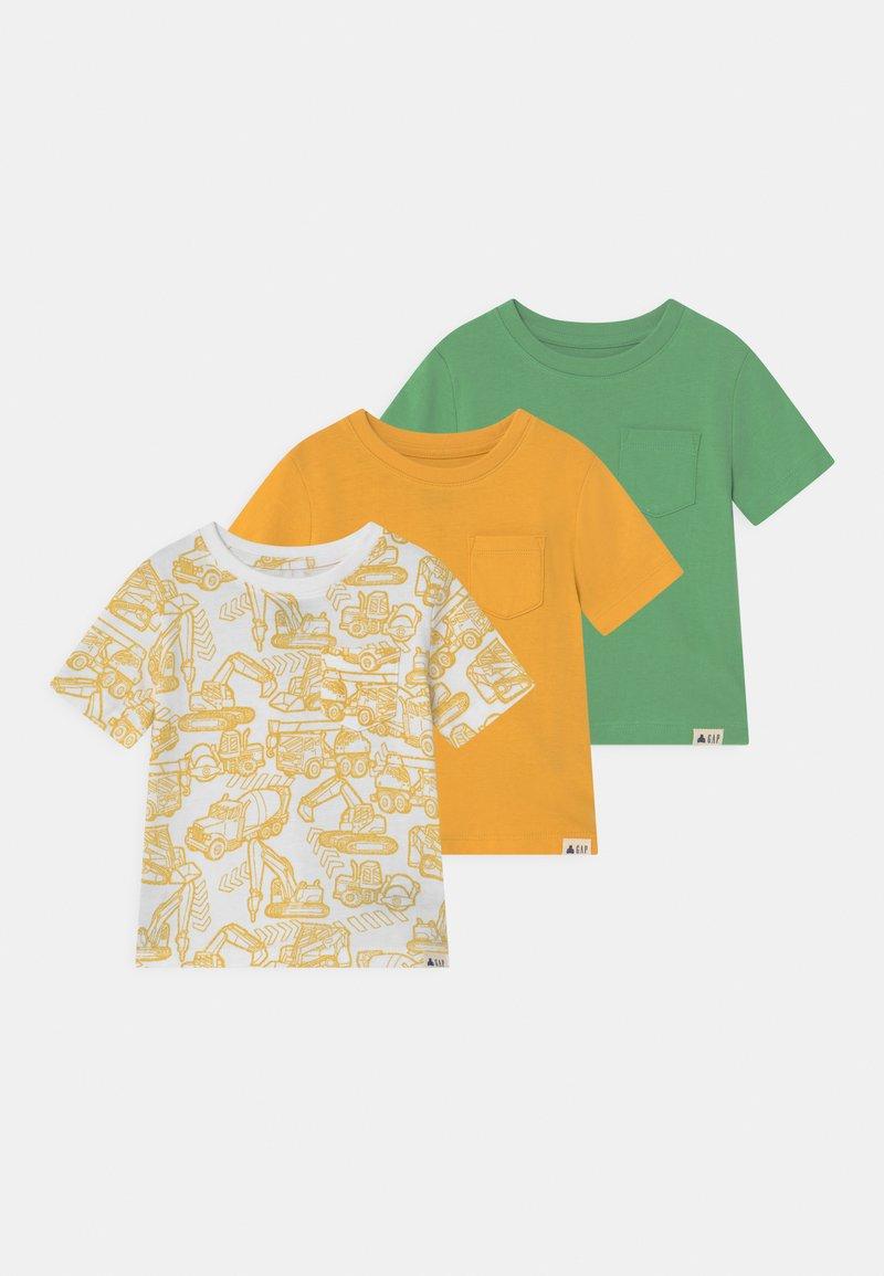 GAP - TODDLER BOY 3 PACK - Camiseta estampada - yellow sundown