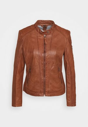STACY - Leather jacket - cognac