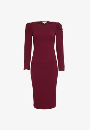 RUCHED SLEEVE - Shift dress - red