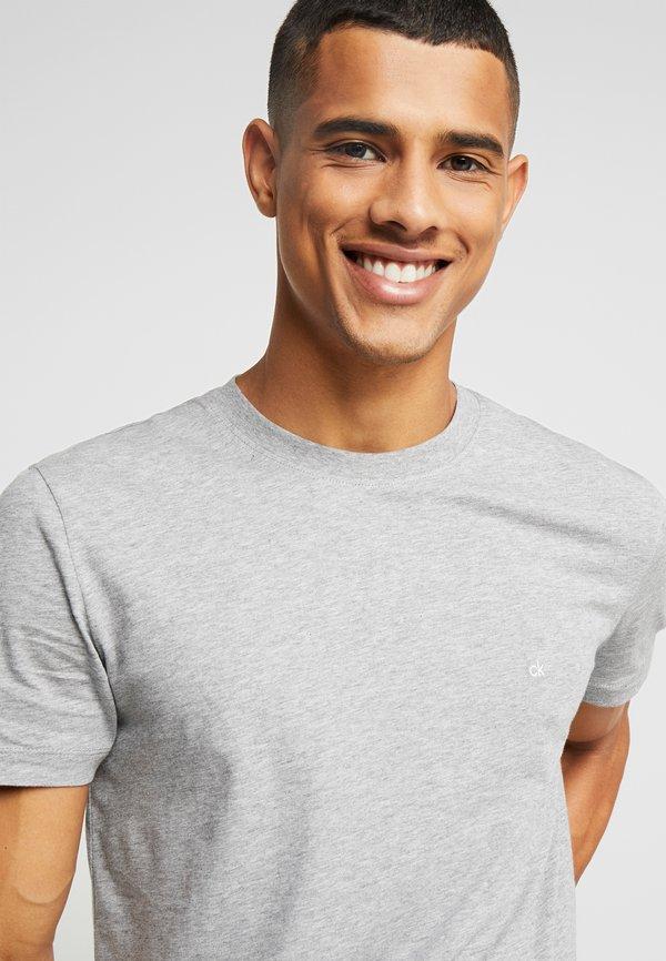 Calvin Klein T-shirt basic - mid grey heather/szary melanż Odzież Męska LUGZ