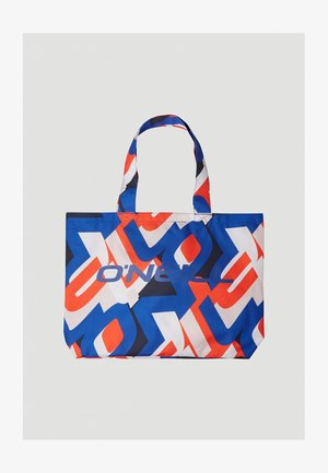 BEACH - Tote bag - red with blue