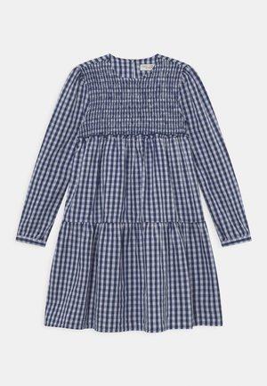 KID CHECKED DRESS - Denní šaty - peacoat