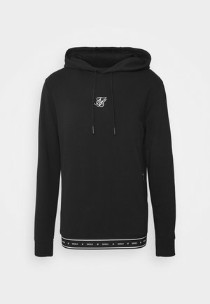 ACTIVE TAPE HEM OVERHEAD HOODIE - Sweat à capuche - black