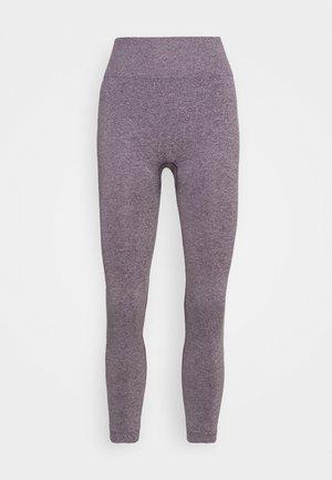 HIGH WAIST CONTRAST SEAMLESS LEGGINGS - Tights - purple
