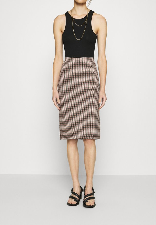 TAMIKA - Pencil skirt - brown