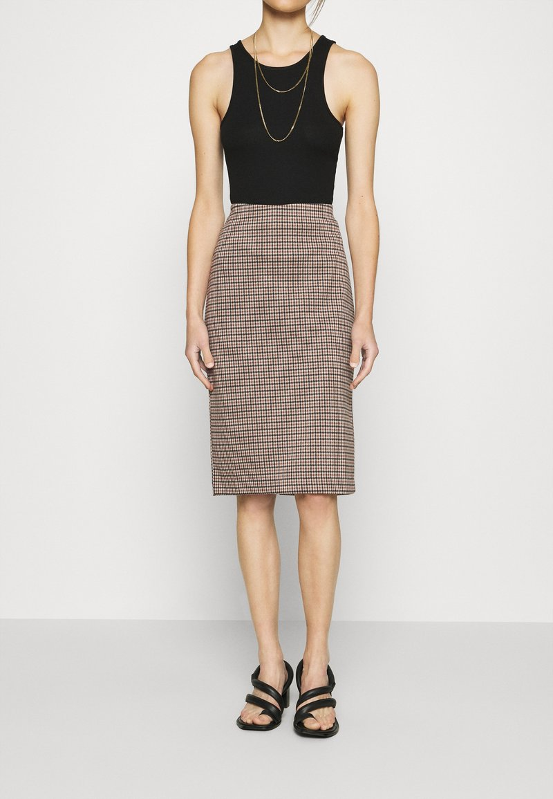 Part Two - TAMIKA - Pencil skirt - brown