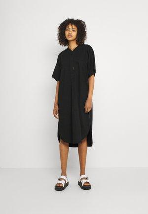 BASEBALL SCOOP DRESS - Shirt dress - pitch black