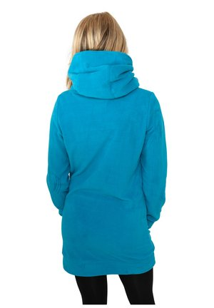 LONG POLAR - Sweat à capuche - turquoise