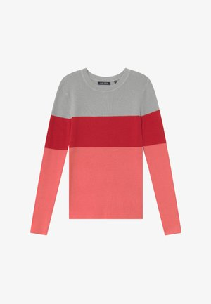 TEENS COLOURBLOCK JUMPER - Stickad tröja - lachs