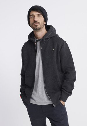 ORANGE LABEL CLASSIC ZIP HOOD - Zip-up hoodie - dark granite texture