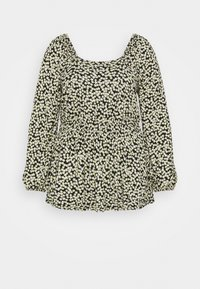Dorothy Perkins Curve - CURVE DITSY SHIRRED SQUARE NECK LONG SLEEVE - Camicetta - multi - 0