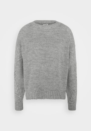 NMJIMMA O NECK - Sweter - light grey