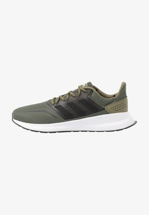 RUNFALCON - Neutral running shoes - raw khaki/core black/footwear white