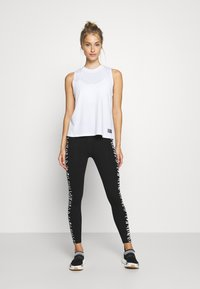 DKNY - HIGH WAIST ZEBRA PLACED PRINT - Leggings - white - 1