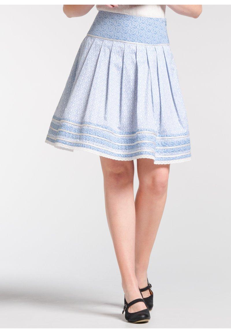 Spieth & Wensky - NIKITA - A-line skirt - light blue