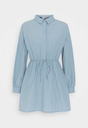 ELASTICATED TIE WAIST SHIRT DRESS - Skjortekjole - grey