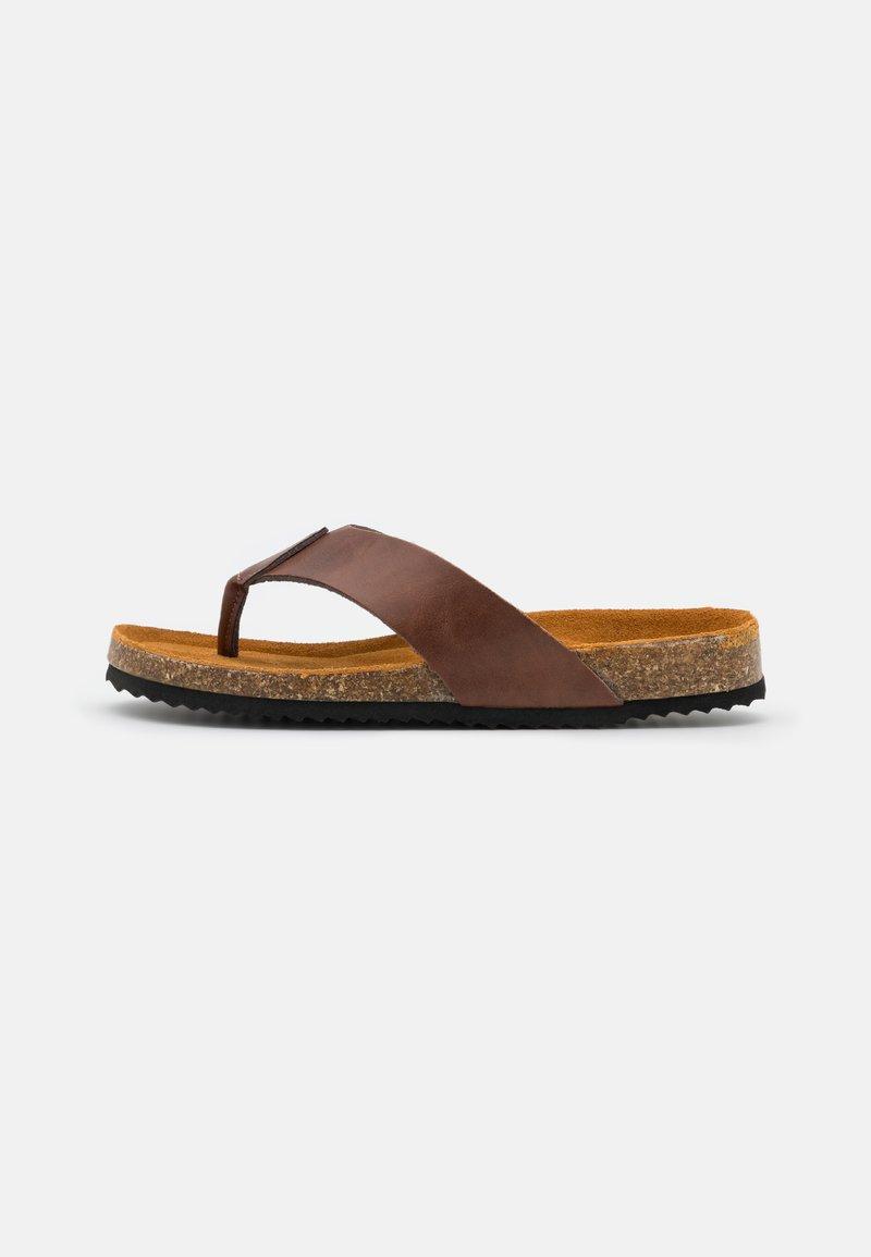 Office - SAUL TOE POST  - T-bar sandals - brown