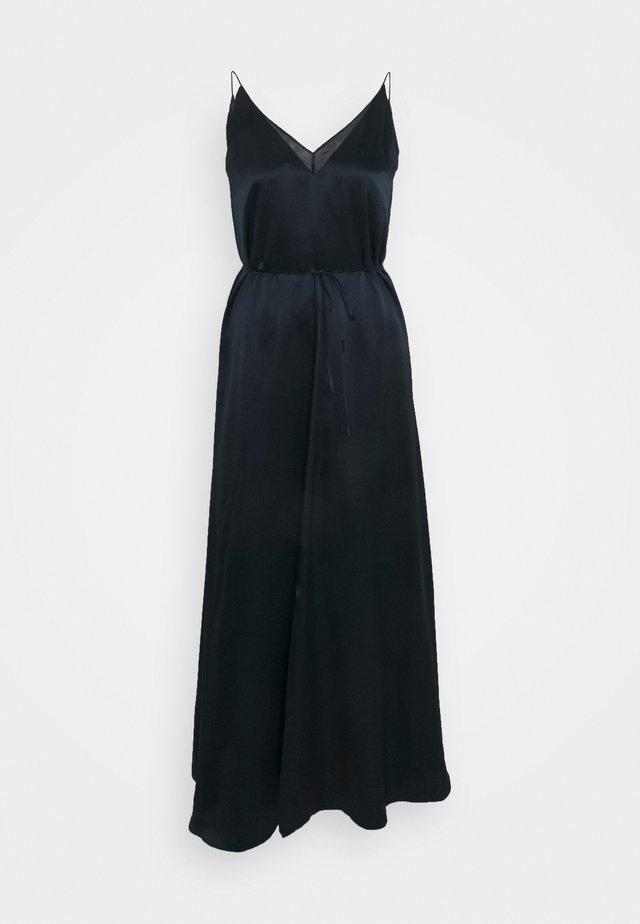 DOUBLE SLIP DRESS - Shift dress - navy