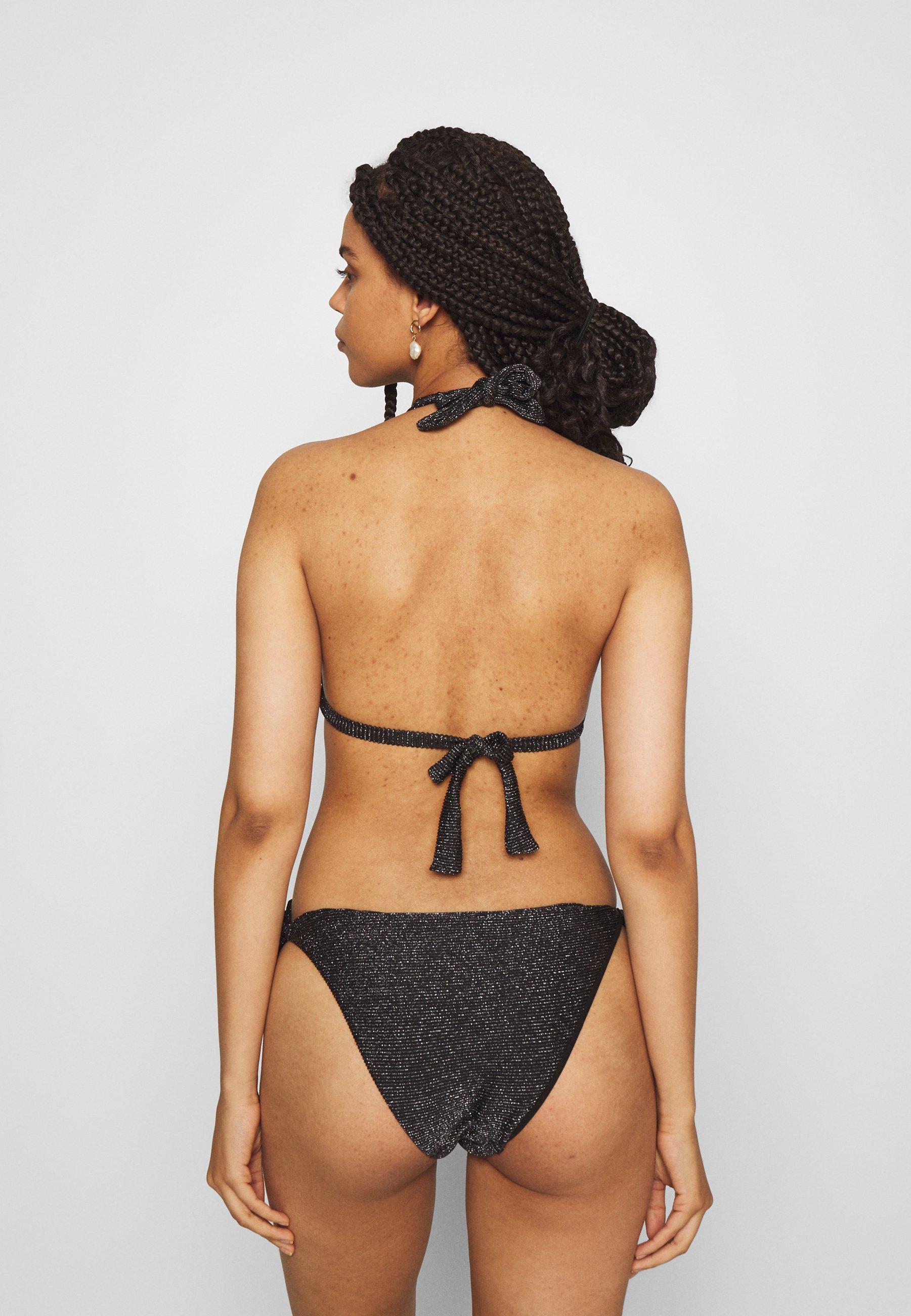 Women ONLDOLLY GLITTER SET - Bikini - black/silver
